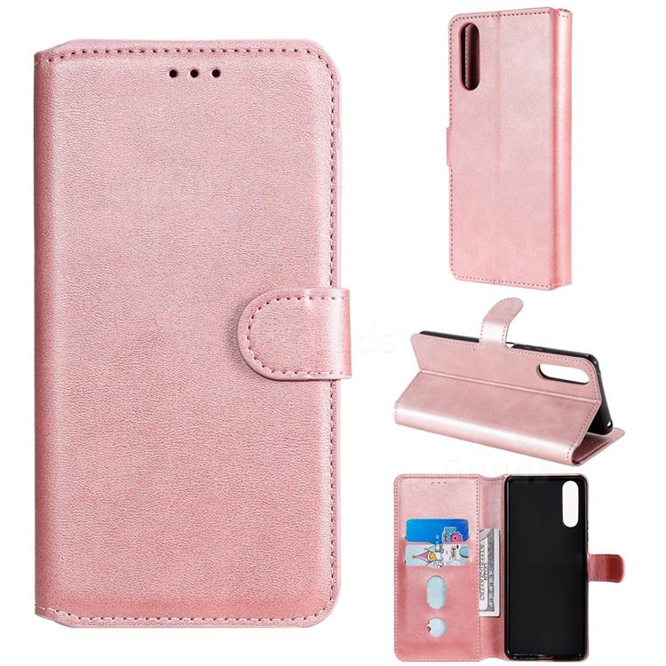 Retro Calf Matte Leather Wallet Phone Case for Sony Xperia 10 II - Pink
