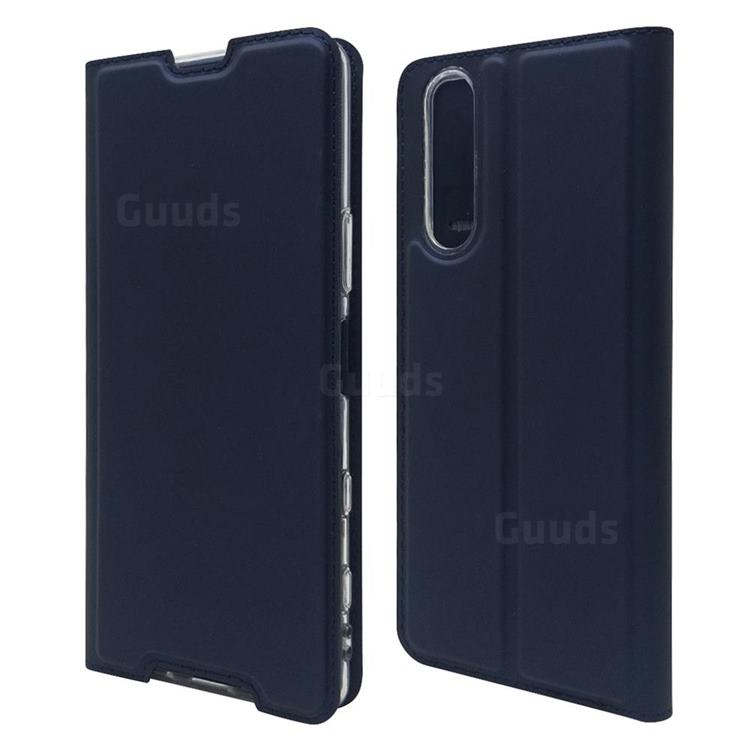 Ultra Slim Card Magnetic Automatic Suction Leather Wallet Case for Sony Xperia 5 II - Royal Blue