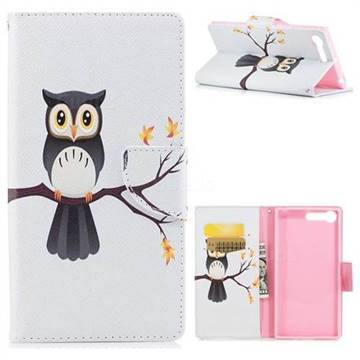 Owl on Tree Leather Wallet Case for Sony Xperia X1
