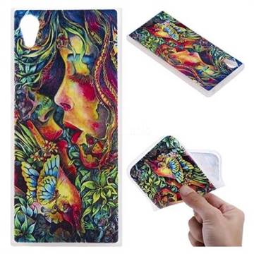 Butterfly Kiss 3D Relief Matte Soft TPU Back Cover for Sony Xperia XA1
