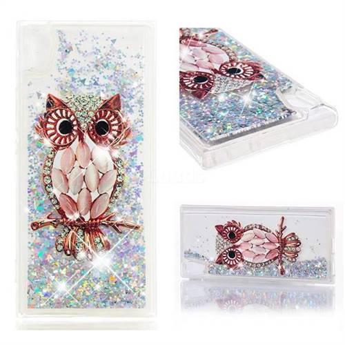 Dynamic Liquid Glitter Quicksand Soft TPU Case for Sony Xperia XA1 - Seashell Owl