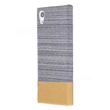 Canvas Cloth Coated Plastic Back Cover for Sony Xperia XA1 - Light Grey