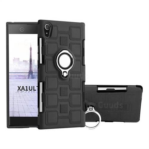 size 40 831c1 c15b2 Ice Cube Shockproof PC + Silicon Invisible Ring Holder Phone Case for Sony  Xperia XA1 Ultra - Black