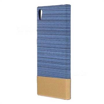 Canvas Cloth Coated Plastic Back Cover for Sony Xperia XA1 Ultra - Light Blue
