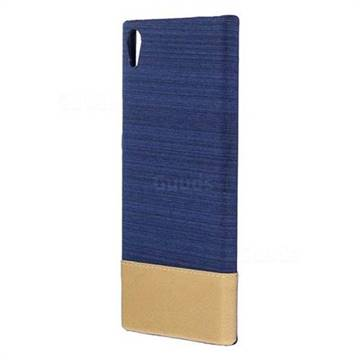 Canvas Cloth Coated Plastic Back Cover for Sony Xperia XA1 Ultra - Dark Blue