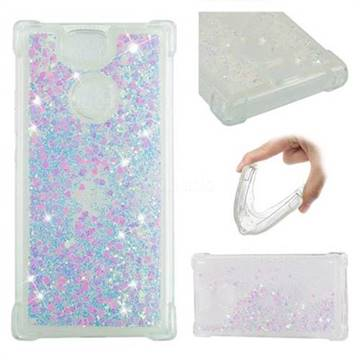 Dynamic Liquid Glitter Sand Quicksand Star TPU Case for Sony Xperia XA2 - Pink