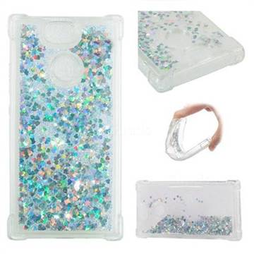 Dynamic Liquid Glitter Sand Quicksand Star TPU Case for Sony Xperia XA2 - Silver