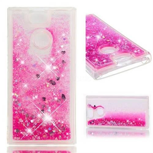 Dynamic Liquid Glitter Quicksand Sequins TPU Phone Case for Sony Xperia XA2 - Rose