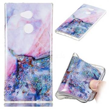 Purple Amber Soft TPU Marble Pattern Phone Case for Sony Xperia XA2
