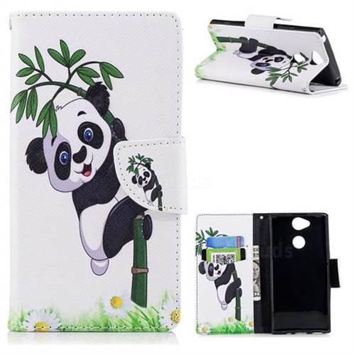 Bamboo Panda Leather Wallet Case for Sony Xperia XA2