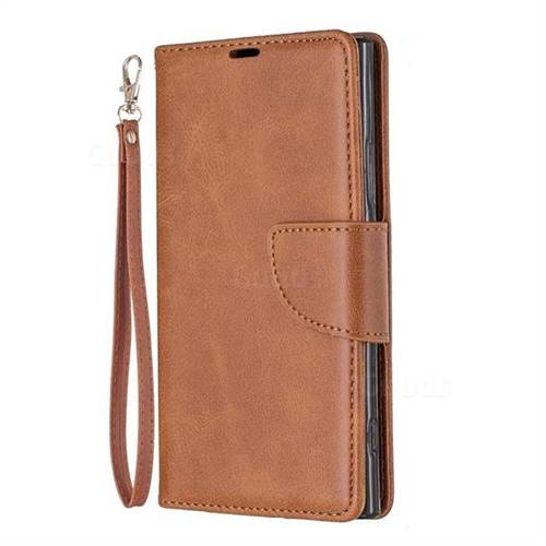 pretty nice 3103c 807ea Classic Sheepskin PU Leather Phone Wallet Case for Sony Xperia XA2 - Brown