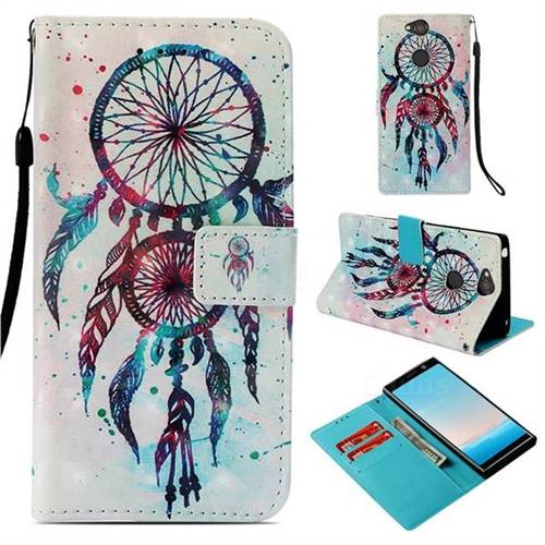 ColorDrops Wind Chimes 3D Painted Leather Wallet Case for Sony Xperia XA2 Plus
