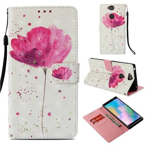 Watercolor 3D Painted Leather Wallet Case for Sony Xperia XA2 Plus