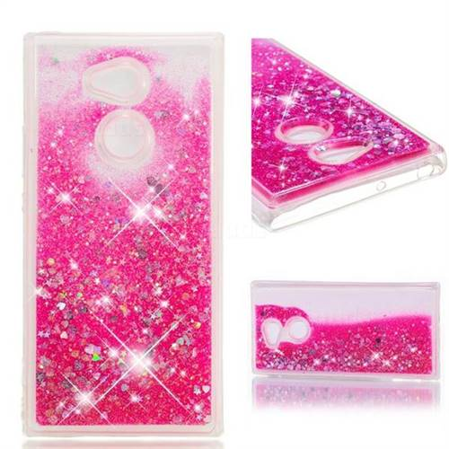 Dynamic Liquid Glitter Quicksand Sequins TPU Phone Case for Sony Xperia XA2 Ultra(6.0 inch) - Rose