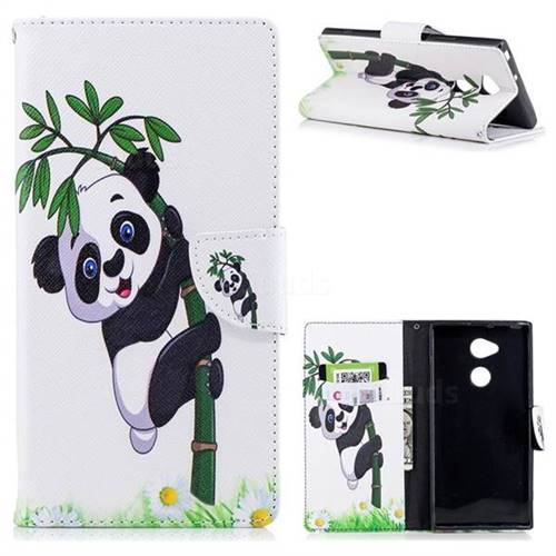 Bamboo Panda Leather Wallet Case for Sony Xperia XA2 Ultra(6.0 inch)