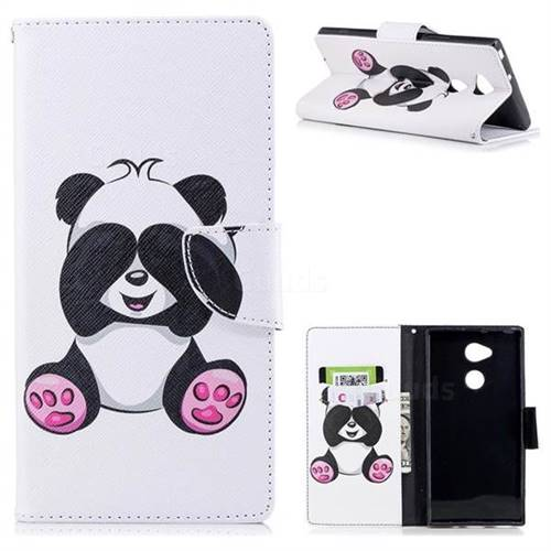 Lovely Panda Leather Wallet Case for Sony Xperia XA2 Ultra(6.0 inch)