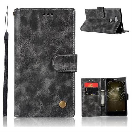 Luxury Retro Leather Wallet Case for Sony Xperia XA2 Ultra(6.0 inch) - Gray