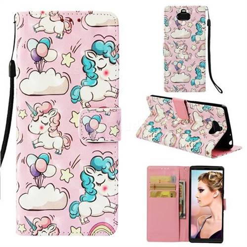 Angel Pony 3D Painted Leather Wallet Case for Sony Xperia 10 / Xperia XA3