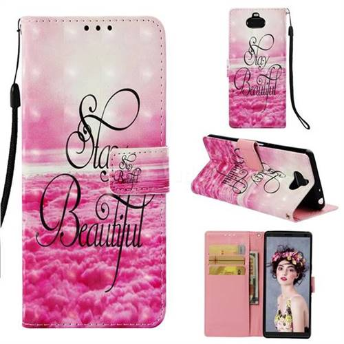 Beautiful 3D Painted Leather Wallet Case for Sony Xperia 10 / Xperia XA3