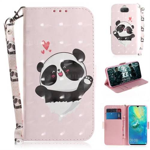 Heart Cat 3D Painted Leather Wallet Phone Case for Sony Xperia 10 / Xperia XA3