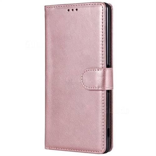 size 40 21b17 8d61f Retro Greek Detachable Magnetic PU Leather Wallet Phone Case for Sony  Xperia XA Ultra - Rose Gold