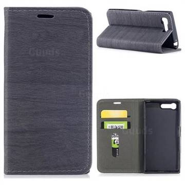 Tree Bark Pattern Automatic suction Leather Wallet Case for Sony Xperia X Compact X Mini - Gray