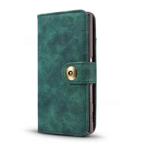 sports shoes 4d806 a8b10 Luxury Vintage Split Separated Leather Wallet Case for Sony Xperia X  Compact X Mini - Dark Green