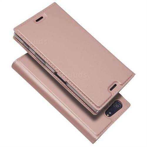 sports shoes 4e422 e19e3 Ultra Slim Card Magnetic Automatic Suction Leather Wallet Case for Sony  Xperia X Compact X Mini - Rose Gold