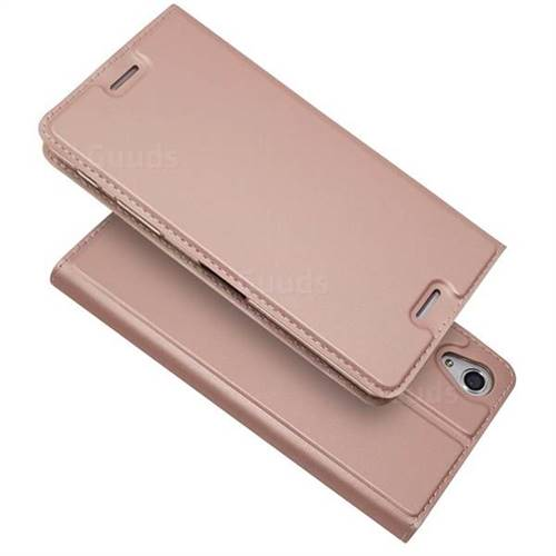 big sale 833f5 245c4 Ultra Slim Card Magnetic Automatic Suction Leather Wallet Case for Sony  Xperia X Performance - Rose Gold