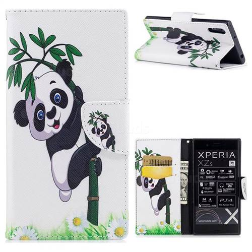 Bamboo Panda Leather Wallet Case for Sony Xperia XZ