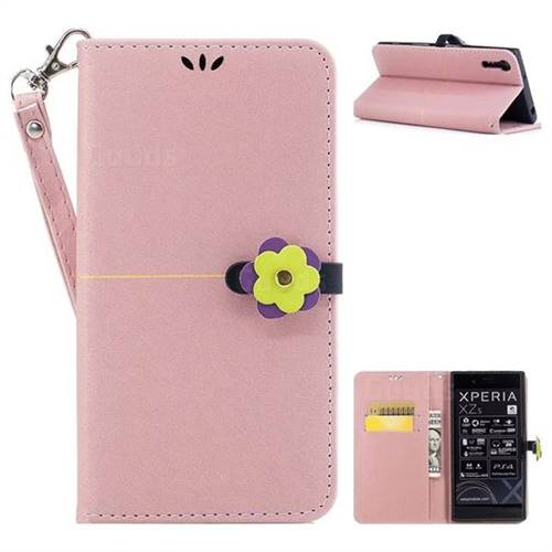 Rose Gold Gold Velvet Smooth PU Leather Wallet Case for Sony Xperia XZ XZs
