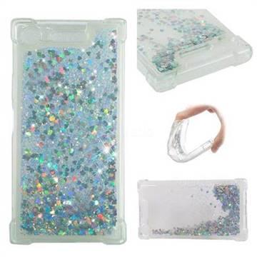 Dynamic Liquid Glitter Sand Quicksand Star TPU Case for Sony Xperia XZ1 - Silver