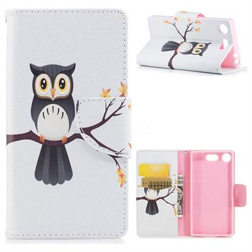 Owl on Tree Leather Wallet Case for Sony Xperia XZ1 Compact