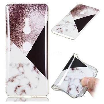 Black white Grey Soft TPU Marble Pattern Phone Case for Sony Xperia XZ2