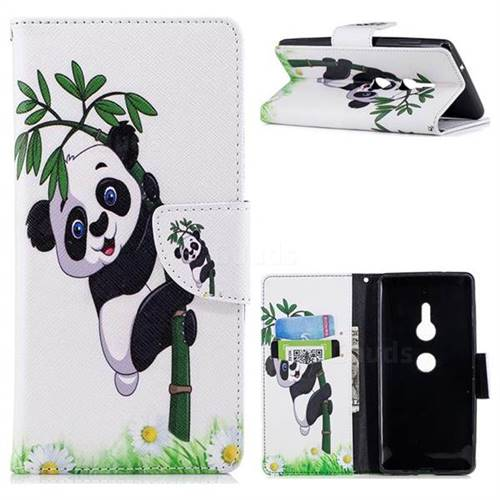 Bamboo Panda Leather Wallet Case for Sony Xperia XZ2