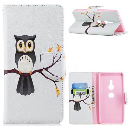 Owl on Tree Leather Wallet Case for Sony Xperia XZ2