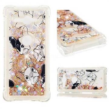 Bulldog Dynamic Liquid Glitter Sand Quicksand Star TPU Case for Sony Xperia XZ2 Compact