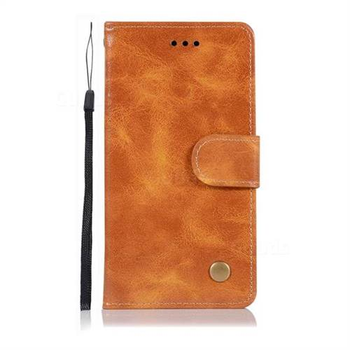 detailed look 1a176 3724f Luxury Retro Leather Wallet Case for Sony Xperia XZ2 Compact - Golden