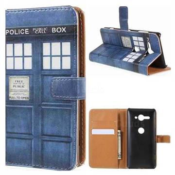 huge selection of c72a0 92e66 Police Box Leather Wallet Case for Sony Xperia XZ2 Compact