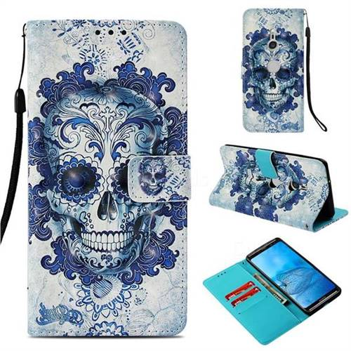Cloud Kito 3D Painted Leather Wallet Case for Sony Xperia XZ3