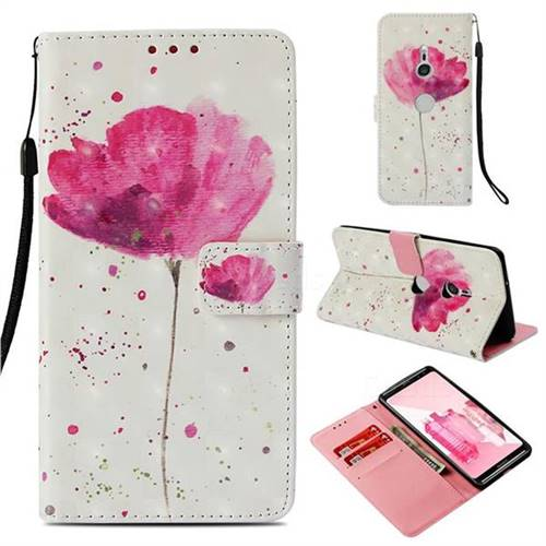 Watercolor 3D Painted Leather Wallet Case for Sony Xperia XZ3