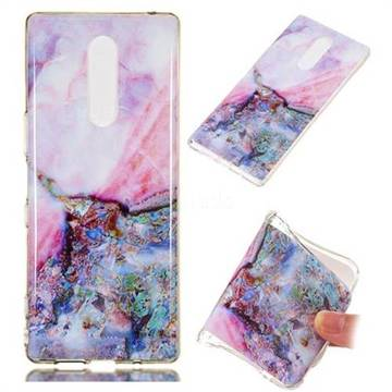 Purple Amber Soft TPU Marble Pattern Phone Case for Sony Xperia 1 / Xperia XZ4