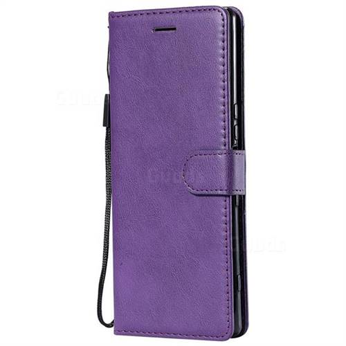 best service a92f2 9d1fa Retro Greek Classic Smooth PU Leather Wallet Phone Case for Sony Xperia 1 /  Xperia XZ4 - Purple