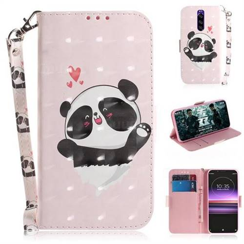Heart Cat 3D Painted Leather Wallet Phone Case for Sony Xperia 1 / Xperia XZ4