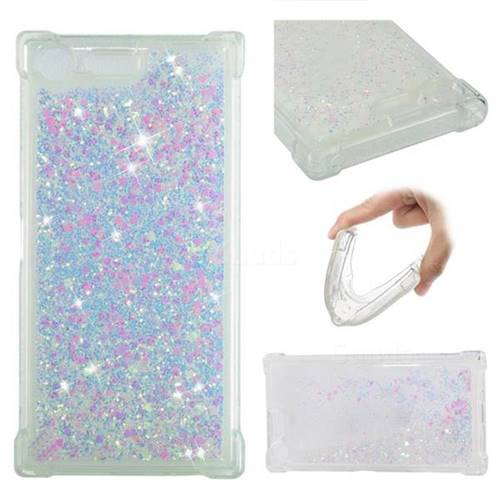 Dynamic Liquid Glitter Sand Quicksand Star TPU Case for Sony Xperia XZ Premium XZP - Pink