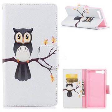 Owl on Tree Leather Wallet Case for Sony Xperia XZ Premium XZP