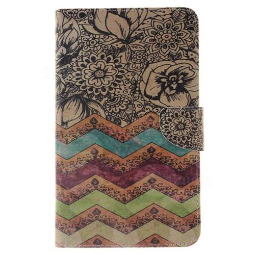 big sale 81ae6 fc5b9 Wave Flower Painting Tablet Leather Wallet Flip Cover for Samsung Galaxy  Tab 4 7.0 T230 T231 T235