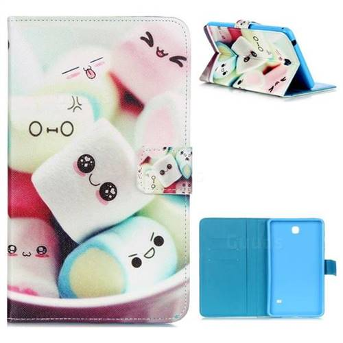 Marshmallow Folio Stand Leather Wallet Case for Samsung Galaxy Tab 4 7 0  T230 T231 T235