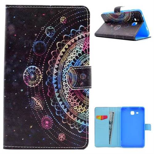 Universe Folio Flip Stand Leather Wallet Case for Samsung Galaxy Tab A 7.0 (2016) T280 T285