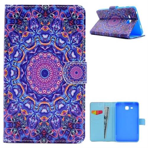Purple Folio Flip Stand Leather Wallet Case for Samsung Galaxy Tab A 7.0 (2016) T280 T285